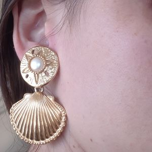 😍Seashell vintage earrings /clip ons